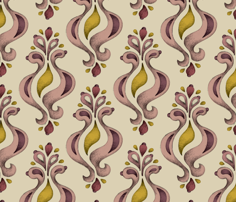 Ornament Beige fabric by mobuedinger on Spoonflower - custom fabric