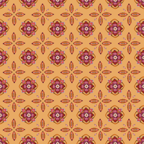 Ornament Orange fabric by mobuedinger on Spoonflower - custom fabric