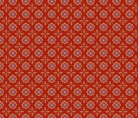 Ornament Red fabric by mobuedinger on Spoonflower - custom fabric