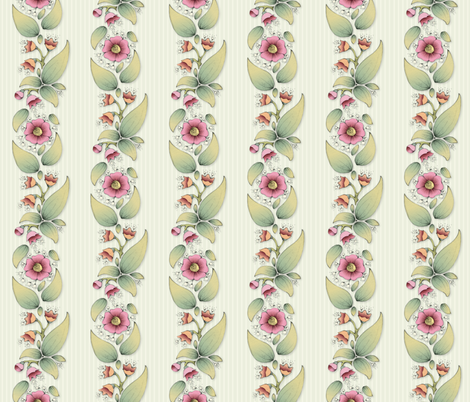 Flower Twine fabric by mobuedinger on Spoonflower - custom fabric