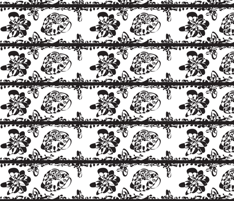 cestlaviv_blackandwhite fabric by cest_la_viv on Spoonflower - custom fabric