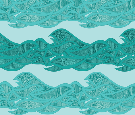 Ode To The Sea fabric by noaleco on Spoonflower - custom fabric