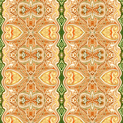 For the Love of Victorian Lace (cream/green) fabric by edsel2084 on Spoonflower - custom fabric