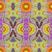 Sunflower Batik Peek A Boo (violet)