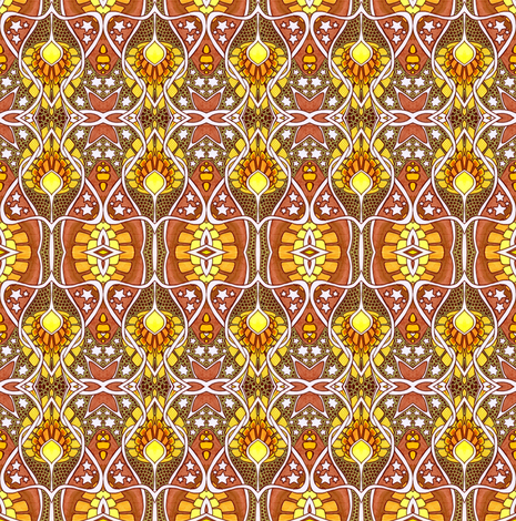 Autumn Under the Stars fabric by edsel2084 on Spoonflower - custom fabric