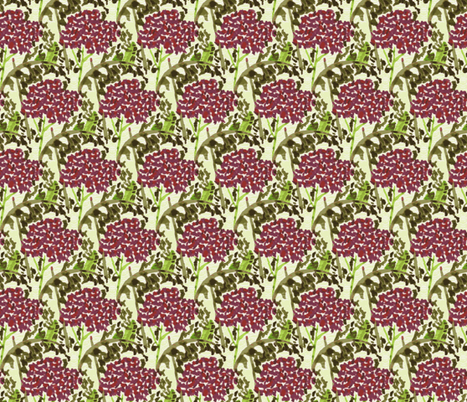 Crimson Bloom fabric by cricketswool on Spoonflower - custom fabric