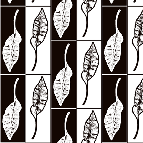 Releaved-bw fabric by nalo_hopkinson on Spoonflower - custom fabric