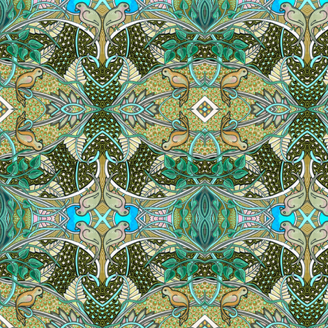 Oiseau Paradis fabric by edsel2084 on Spoonflower - custom fabric