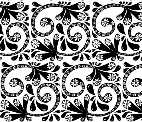 Black_and_White_Splash fabric by chelmers on Spoonflower - custom fabric