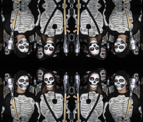 Skeleton March fabric by paragonstudios on Spoonflower - custom fabric