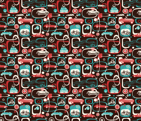 Lil' Wheels fabric by twobloom on Spoonflower - custom fabric