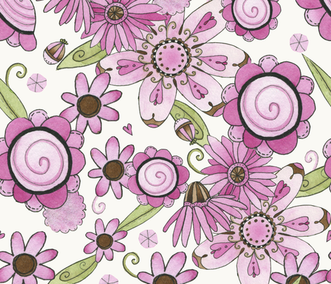 Neapolitan Dreams! fabric by mooncookiegallery on Spoonflower - custom fabric