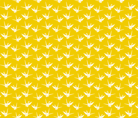 Folded Friends: Sunshine fabric by nadiahassan on Spoonflower - custom fabric