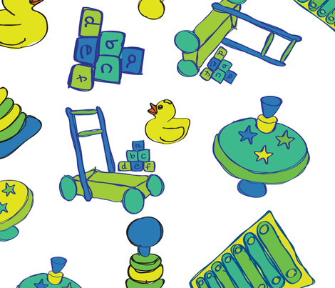 Baby boy  fabric by jlwillustration on Spoonflower - custom fabric