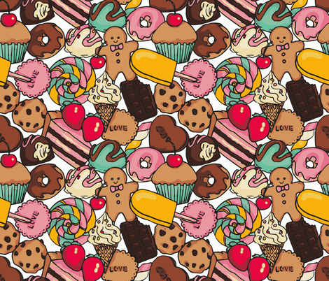 Sugar Galore fabric by shirayukin on Spoonflower - custom fabric