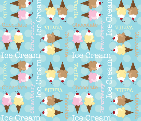 Neopolitan Ice Cream Cones fabric by robyriker on Spoonflower - custom fabric