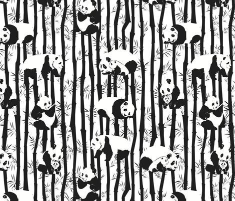 Panda2011 fabric by nikky on Spoonflower - custom fabric