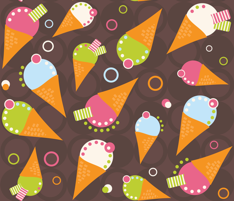 Honeysuckle Ice Cream fabric by jenniferfranklin on Spoonflower - custom fabric