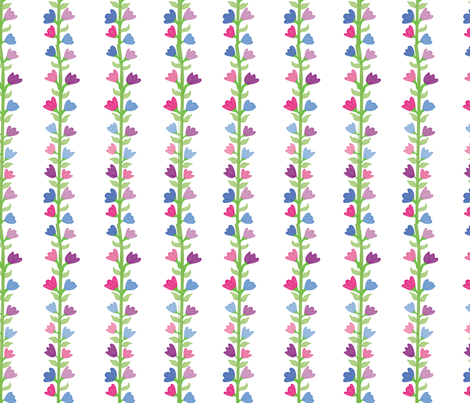 Field of Flowers Stripes fabric by brandymiller on Spoonflower - custom fabric
