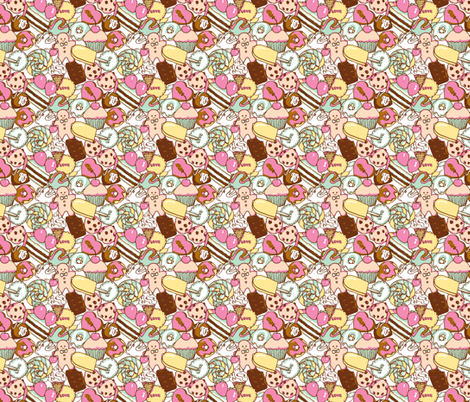 Sugar Galore (Pastel) fabric by shirayukin on Spoonflower - custom fabric