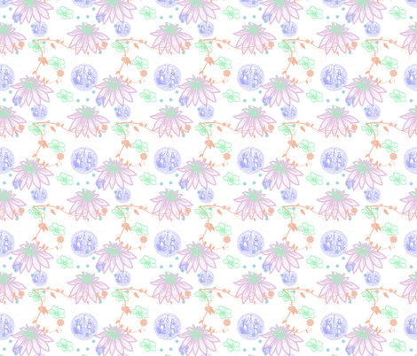 Tropical Pastels fabric by captiveinflorida on Spoonflower - custom fabric