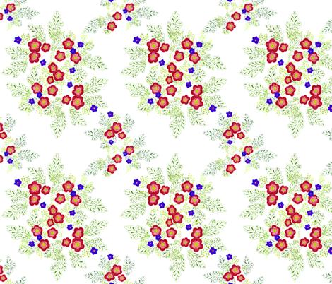 enamel flowers fabric by atomic_bloom on Spoonflower - custom fabric