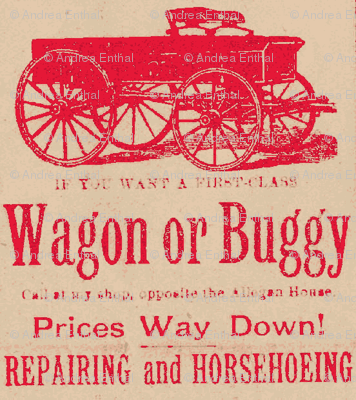 First Class Wagon or Buggy 1890's advertisement