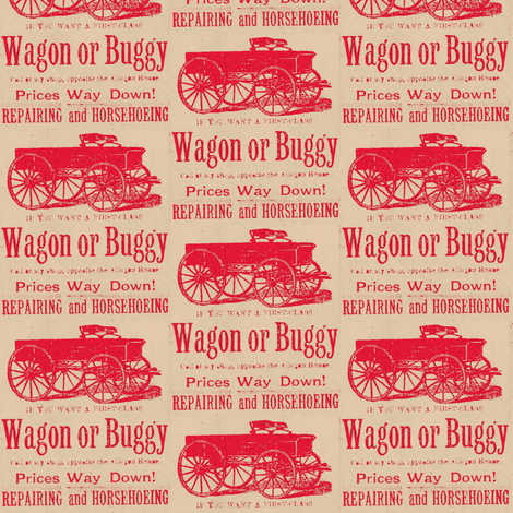 First Class Wagon or Buggy 1890's advertisement fabric by edsel2084 on Spoonflower - custom fabric