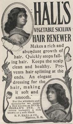 Hall's Hair 1907 ad