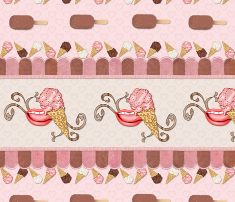 Lick-a-licious Ice Cream fabric by spicetree on Spoonflower - custom fabric