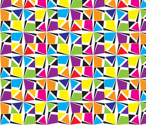 GeometricBrights fabric by ghennah on Spoonflower - custom fabric