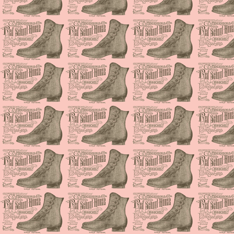 Victorian boots advertisment fabric by edsel2084 on Spoonflower - custom fabric