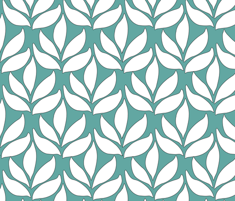 Leaf_Texture_fabric_lg_GREEN fabric by mina on Spoonflower - custom fabric