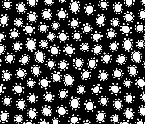 Spanish_Floral_Dots2_BLACKWHITE fabric by fuzzyskyfabric on Spoonflower - custom fabric