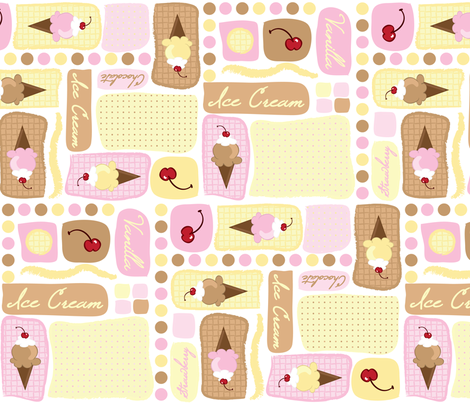 Sweet Ice Cream Cones fabric by robyriker on Spoonflower - custom fabric
