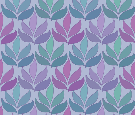 Leaf_Texture_fabric_lg-multi-PERIWINKLE fabric by mina on Spoonflower - custom fabric
