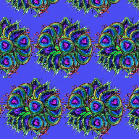 P is Peacock fabric by missjessm on Spoonflower - custom fabric