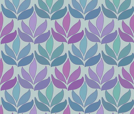 Leaf_Texture_fabric-lg_multi-SAGE fabric by mina on Spoonflower - custom fabric