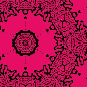 red ornamentic circles