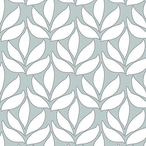 Leaf_Texture_fabric_SM_white-SAGE fabric by mina on Spoonflower - custom fabric