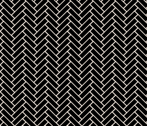 herringbone black and champagne fabric by ninaribena on Spoonflower - custom fabric