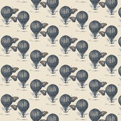 Hot Air Balloon blue mix