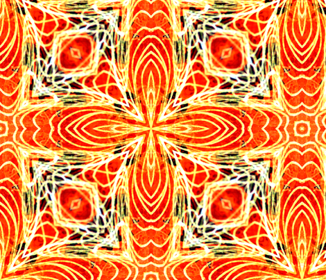 orange star fabric by heikou on Spoonflower - custom fabric