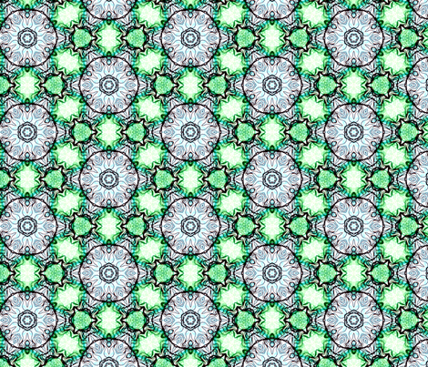 green blue circles fabric by heikou on Spoonflower - custom fabric