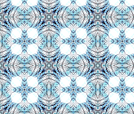 blue tiles fabric by heikou on Spoonflower - custom fabric