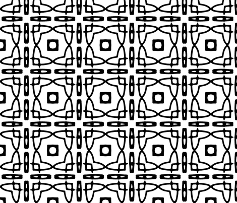 black and white grid fabric by heikou on Spoonflower - custom fabric