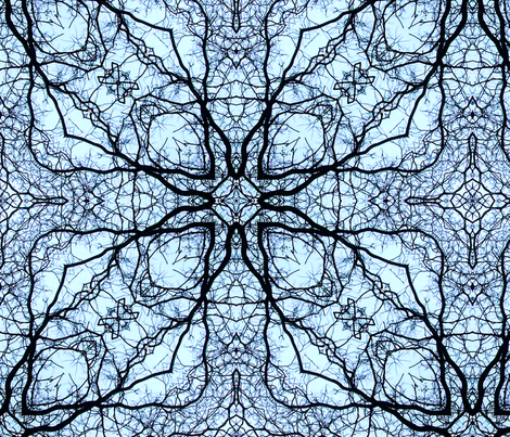 blue branches fabric by heikou on Spoonflower - custom fabric