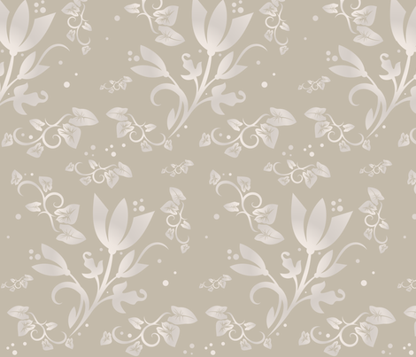 Sand Flowers large ©2011 Gingezel™ Inc. fabric by gingezel on Spoonflower - custom fabric