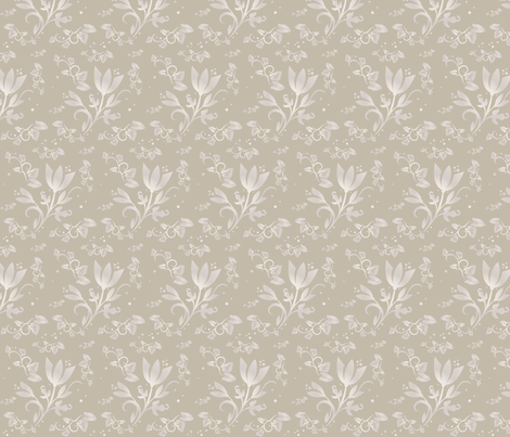 Sand Flowers small ©2011 Gingezel™ Inc. fabric by gingezel on Spoonflower - custom fabric