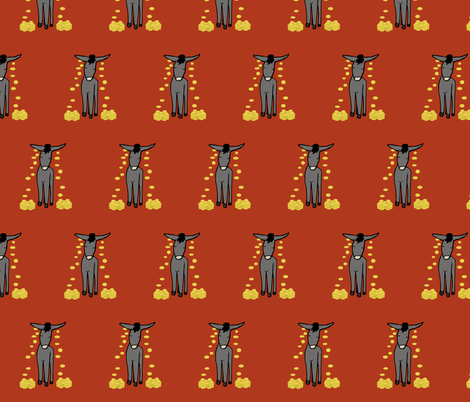 Donkey fabric by pond_ripple on Spoonflower - custom fabric